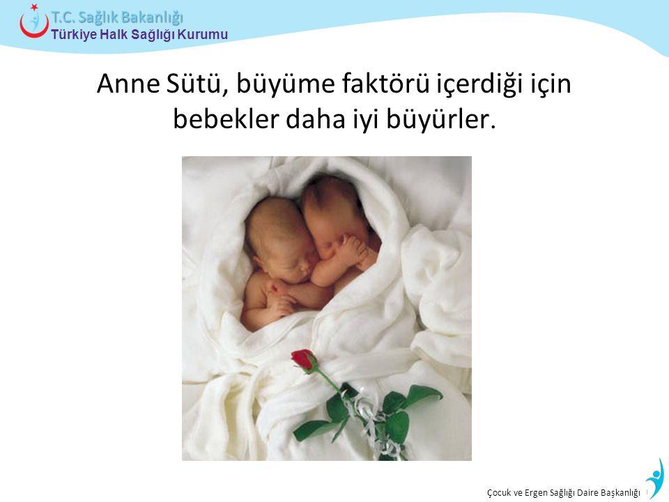 İstatistik ve Bilgi İşlem Daire Başkanlığı Türkiye Halk Sağlığı Kurumu T.C. Sağlık Bakanlığı Çocuk ve Ergen Sağlığı Daire Başkanlığı Anne Sütü, büyüme