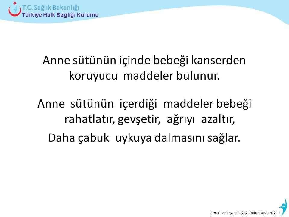 İstatistik ve Bilgi İşlem Daire Başkanlığı Türkiye Halk Sağlığı Kurumu T.C. Sağlık Bakanlığı Çocuk ve Ergen Sağlığı Daire Başkanlığı Anne sütünün için