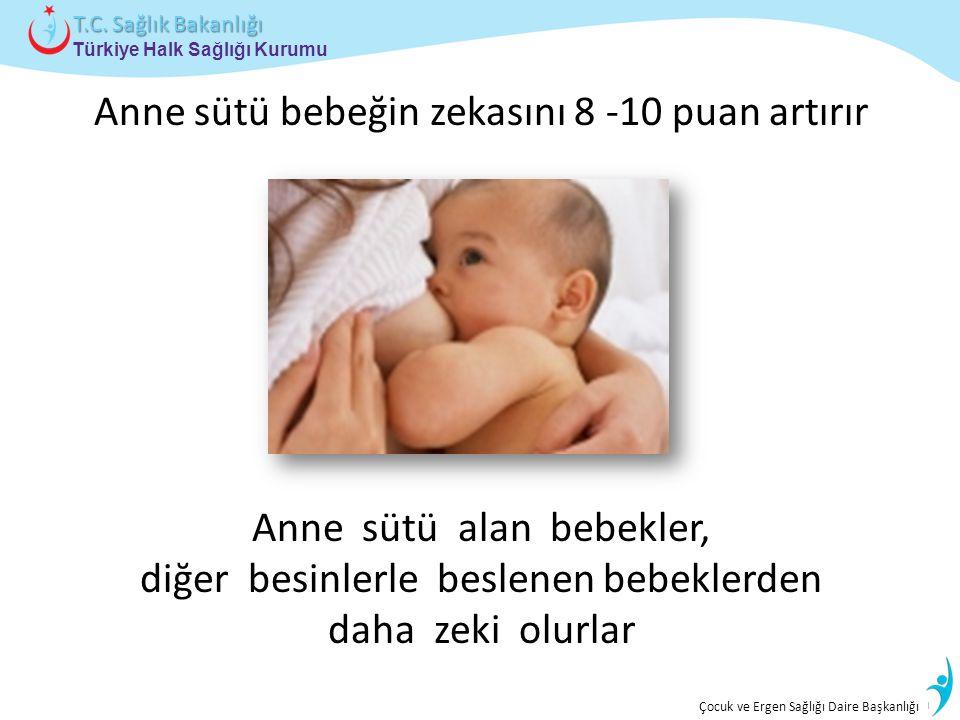 İstatistik ve Bilgi İşlem Daire Başkanlığı Türkiye Halk Sağlığı Kurumu T.C. Sağlık Bakanlığı Çocuk ve Ergen Sağlığı Daire Başkanlığı Anne sütü bebeğin