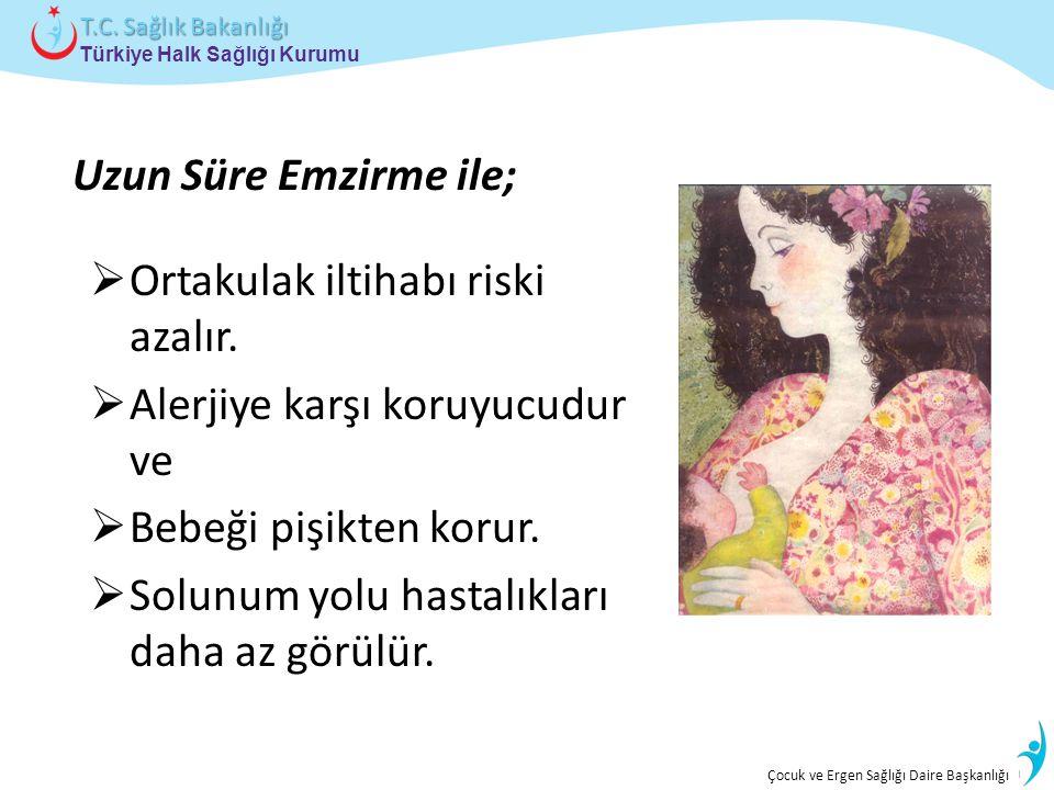 İstatistik ve Bilgi İşlem Daire Başkanlığı Türkiye Halk Sağlığı Kurumu T.C. Sağlık Bakanlığı Çocuk ve Ergen Sağlığı Daire Başkanlığı Uzun Süre Emzirme