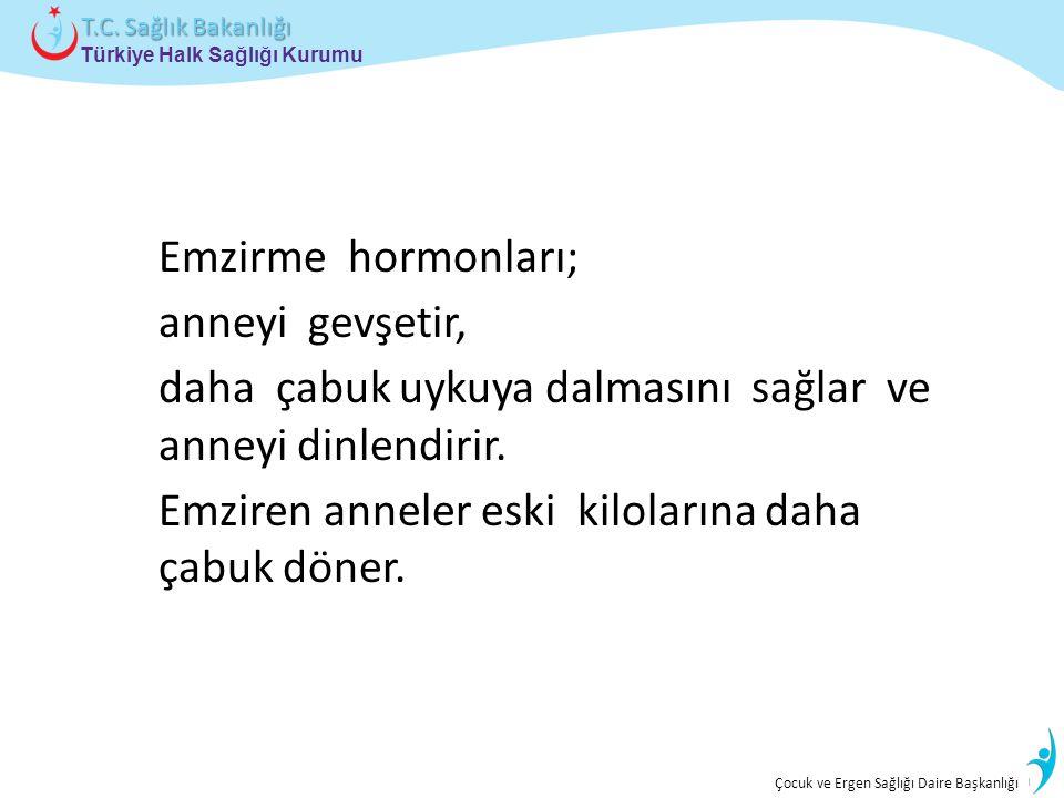 İstatistik ve Bilgi İşlem Daire Başkanlığı Türkiye Halk Sağlığı Kurumu T.C. Sağlık Bakanlığı Çocuk ve Ergen Sağlığı Daire Başkanlığı Emzirme hormonlar