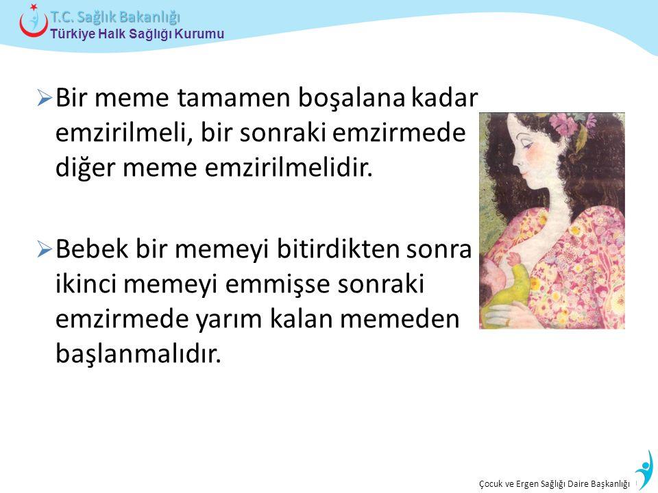 İstatistik ve Bilgi İşlem Daire Başkanlığı Türkiye Halk Sağlığı Kurumu T.C. Sağlık Bakanlığı Çocuk ve Ergen Sağlığı Daire Başkanlığı  Bir meme tamame