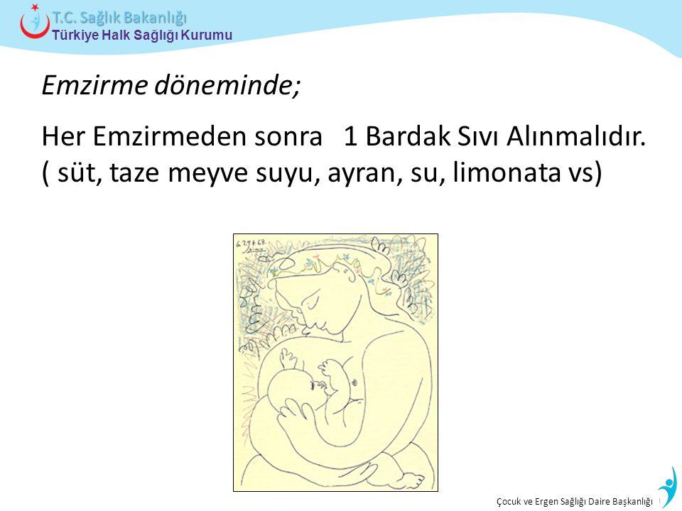 İstatistik ve Bilgi İşlem Daire Başkanlığı Türkiye Halk Sağlığı Kurumu T.C. Sağlık Bakanlığı Çocuk ve Ergen Sağlığı Daire Başkanlığı Her Emzirmeden so