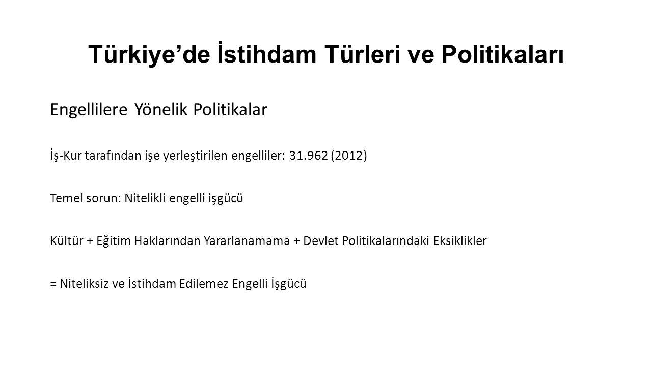Türkiye'de İstihdam Türleri ve Politikaları Pasif İşgücü Politikaları -İşsizliğin ekonomik ve sosyal maliyetleri -Borçlanma -Psikolojik çöküntü -Toplumsa Davranış Bozuklukları -Sosyal Güvenlik Sistemi -İşsizliğin neden olduğu ekonomik ve sosyal sorunları azaltmak