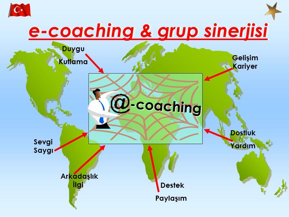 e-coaching & grup sinerjisi Gelişim Kariyer Dostluk Yardım Destek Paylaşım Arkadaşlık İlgi Sevgi Saygı Duygu Kutlama -coaching
