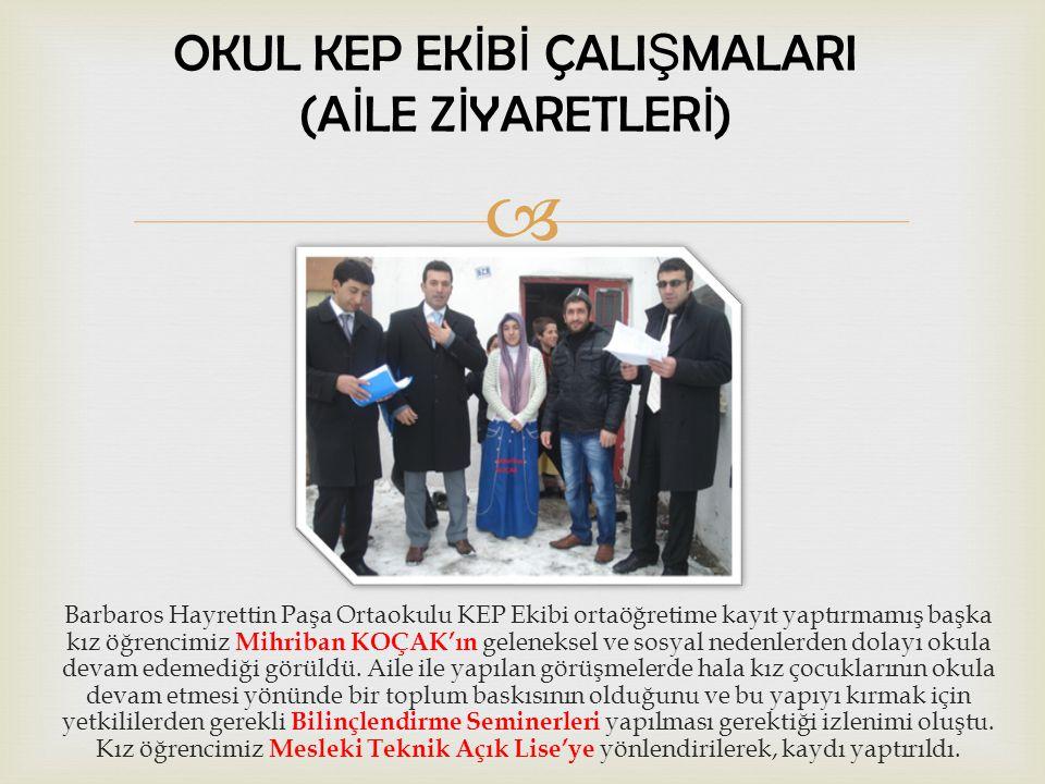  Barbaros Hayrettin Paşa Ortaokulu KEP Ekibi ortaöğretime kayıt yaptırmamış başka kız öğrencimiz Remziye ÇİBO'nun evi ziyaret edildi.