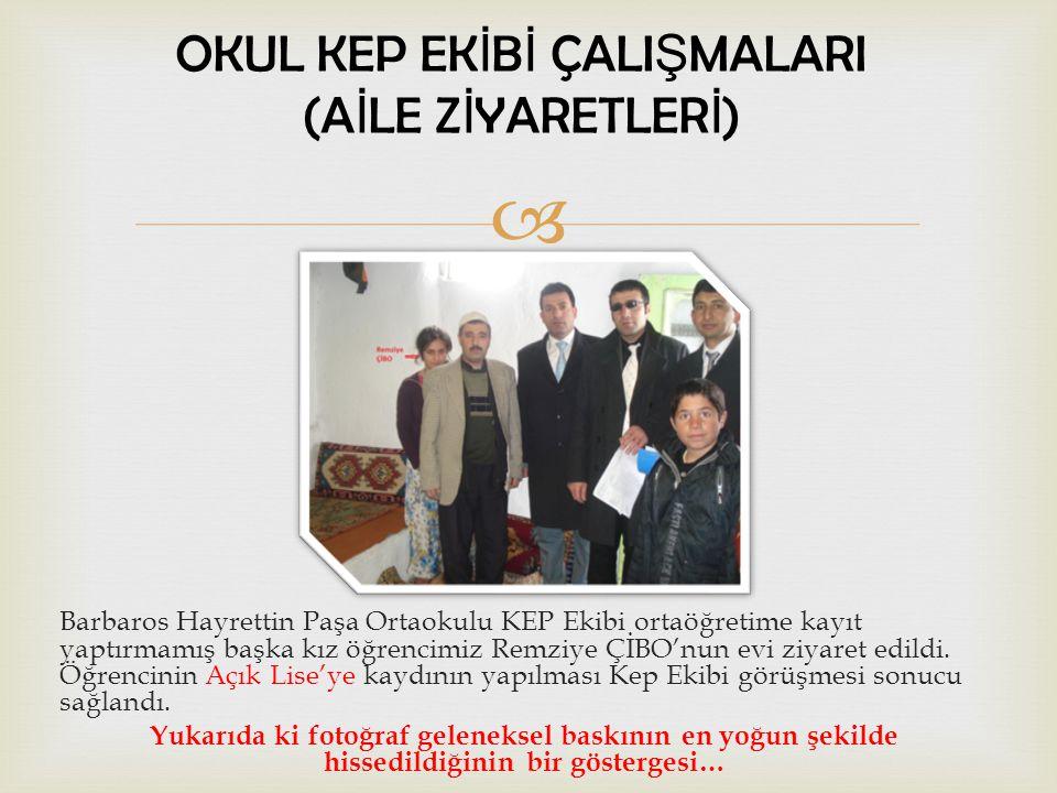  Barbaros Hayrettin Paşa Ortaokulu KEP Ekibi ortaöğretime kayıt yaptırmamış olan Kaynaştırma Eğitimine tabii öğrencimiz Uğur SELAMET 'e ev ziyareti yapıldı.