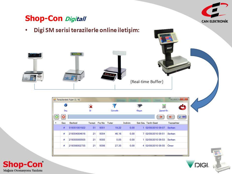 Shop-Con Digitall Digi SM serisi terazilerle online iletişim: {Real-time Buffer}