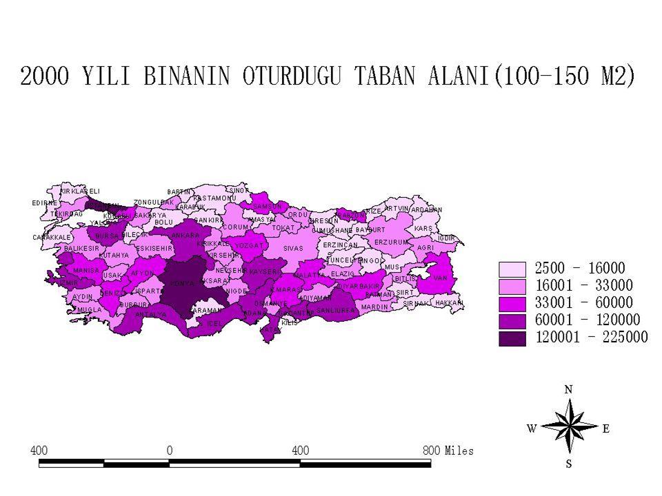 İSTANBUL VE KONYA'DA 100-150 M2 TABAN ALANINDA YAPILAŞMANIN YOĞUN OLDUĞUNU GÖRMEKTEYİZ.