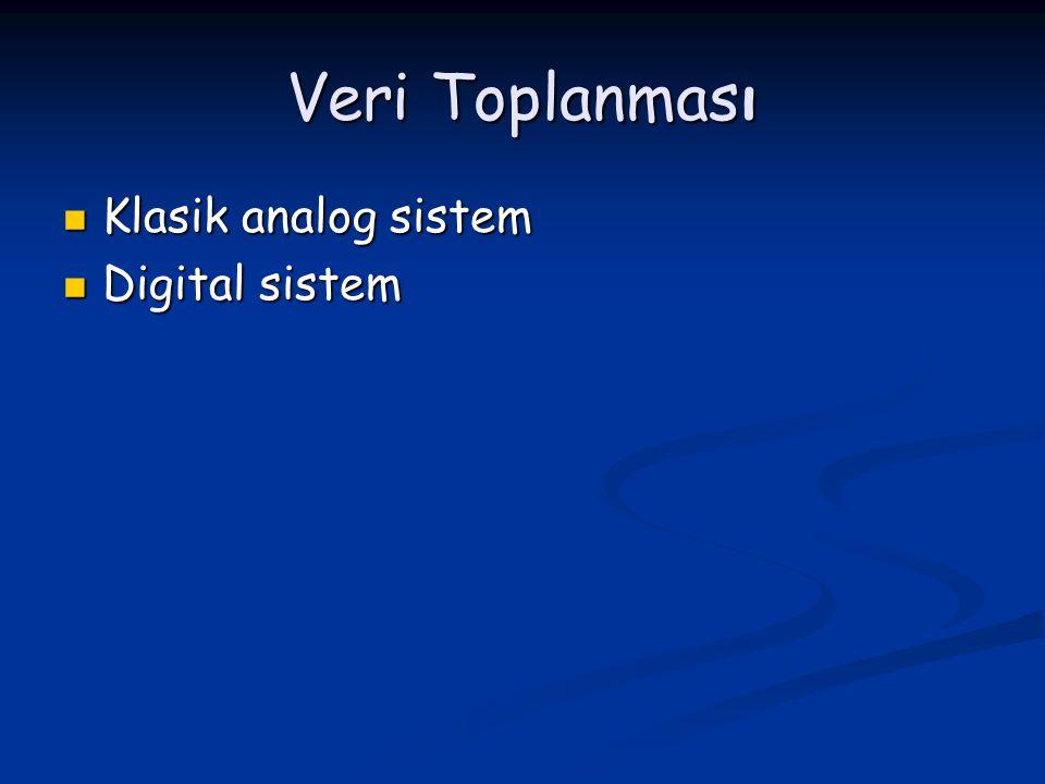 Veri Toplanması Klasik analog sistem Klasik analog sistem Digital sistem Digital sistem