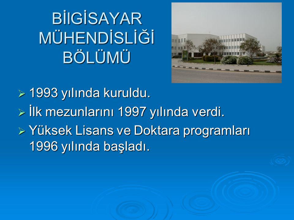 BİlGİSAYAR MÜHENDİSLİĞİ BÖLÜMÜ  1993 yılında kuruldu.