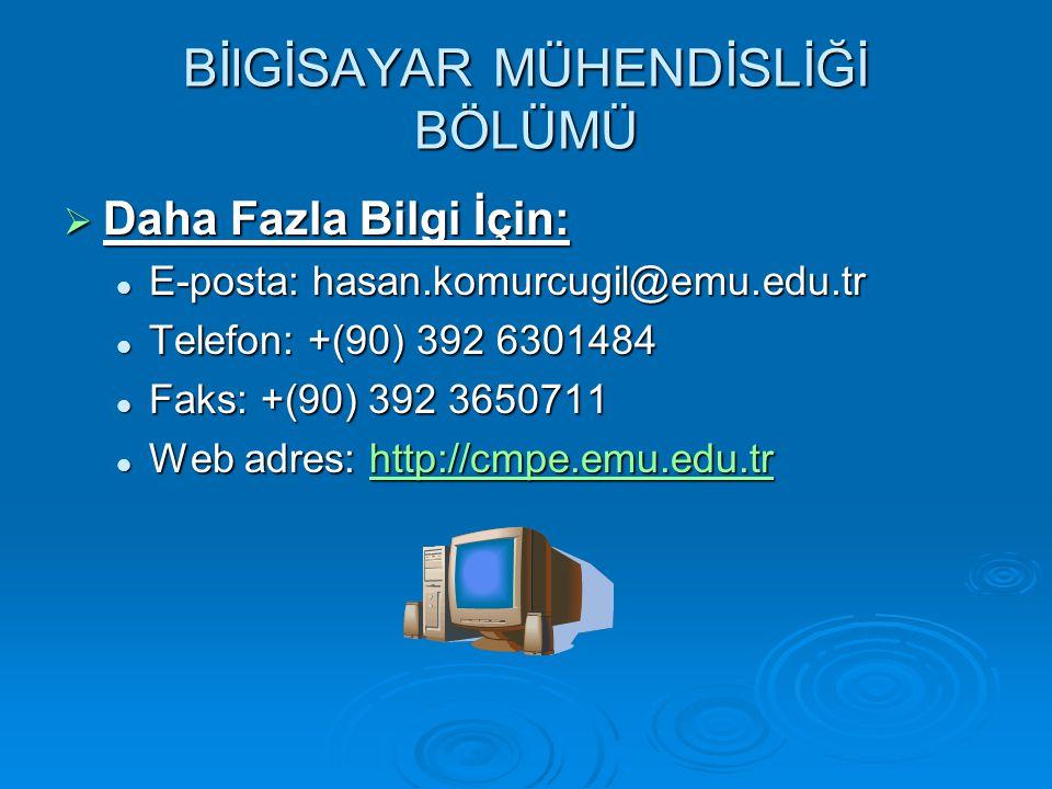  Daha Fazla Bilgi İçin: E-posta: hasan.komurcugil@emu.edu.tr E-posta: hasan.komurcugil@emu.edu.tr Telefon: +(90) 392 6301484 Telefon: +(90) 392 6301484 Faks: +(90) 392 3650711 Faks: +(90) 392 3650711 Web adres: http://cmpe.emu.edu.tr Web adres: http://cmpe.emu.edu.trhttp://cmpe.emu.edu.tr
