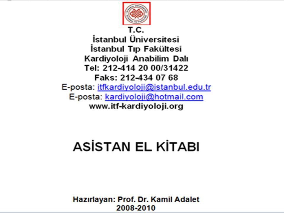 İstanbul Tıp Fakültesi Kardiyoloji ABD Sistem ASİSTAN EL KİTABI