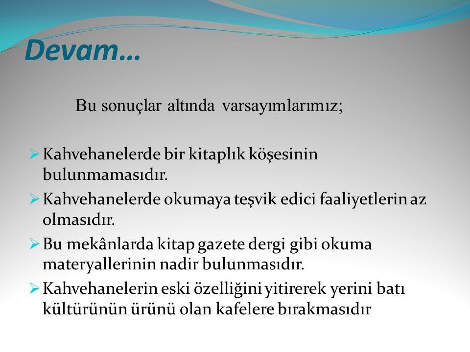 Kapsam Araştırmanın kapsamında Erzurum'daki kahvehane müdavimlerinin okuma alışkanlıkları araştırılacaktır.