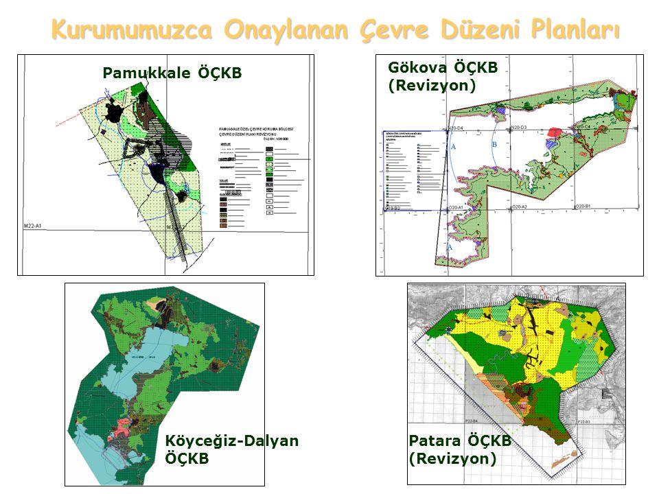 Pamukkale ÖÇKB Gökova ÖÇKB (Revizyon) Köyceğiz-Dalyan ÖÇKB Patara ÖÇKB (Revizyon) Kurumumuzca Onaylanan Çevre Düzeni Planları