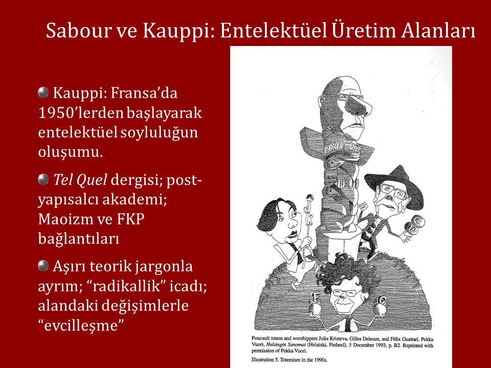 Sabour ve Kauppi: Entelektüel Üretim Alanları Kauppi: Fransa'da 1950'lerden başlayarak entelektüel soyluluğun oluşumu.