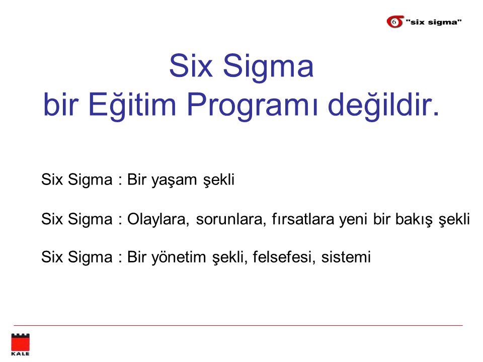 Six Sigma bir Eğitim Programı değildir.