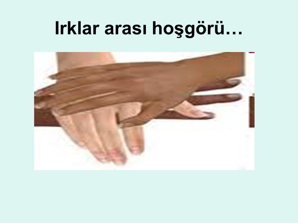 Irklar arası hoşgörü…