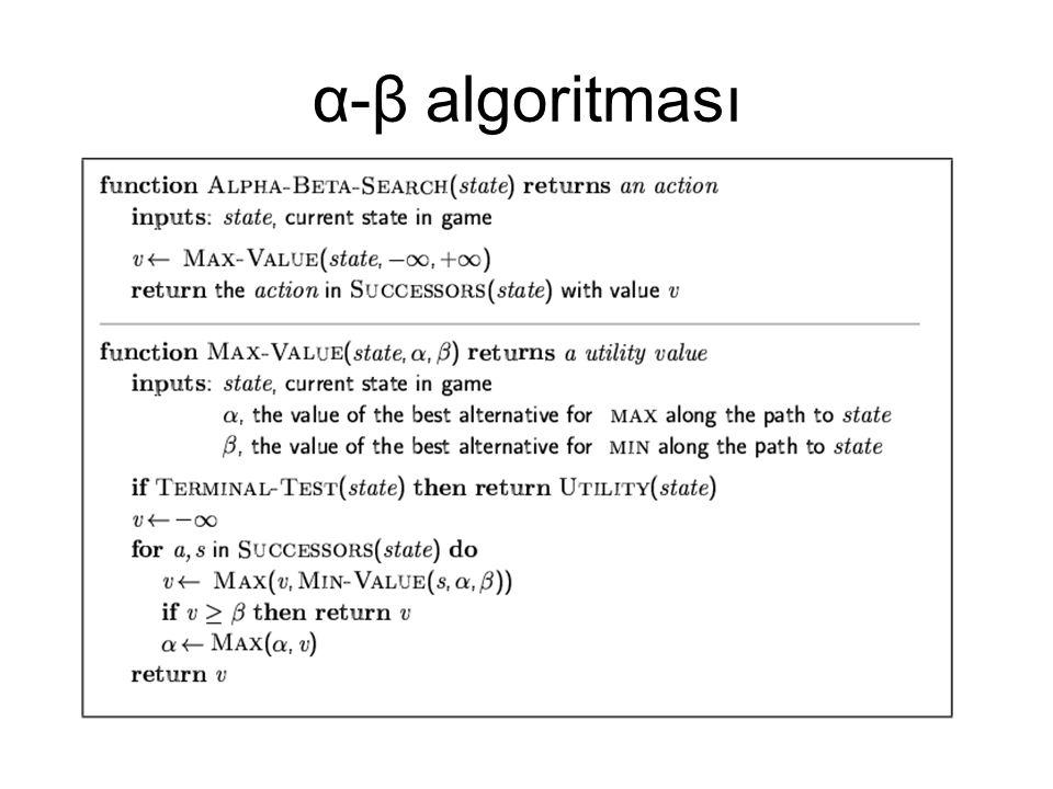 α-β algoritması