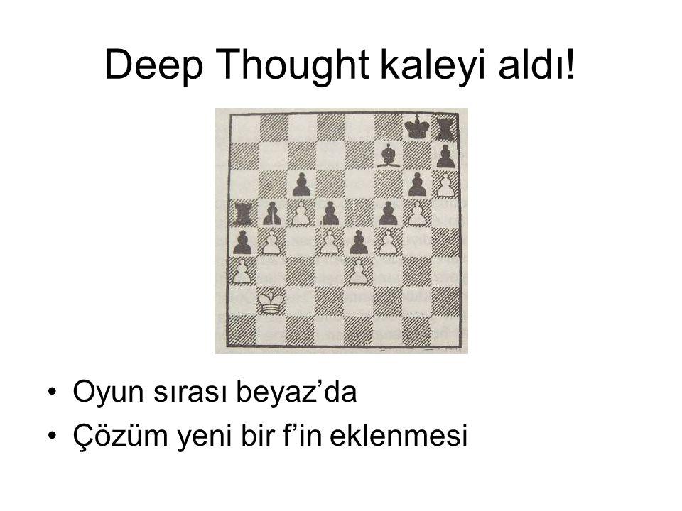 Deep Thought kaleyi aldı! Oyun sırası beyaz'da Çözüm yeni bir f'in eklenmesi