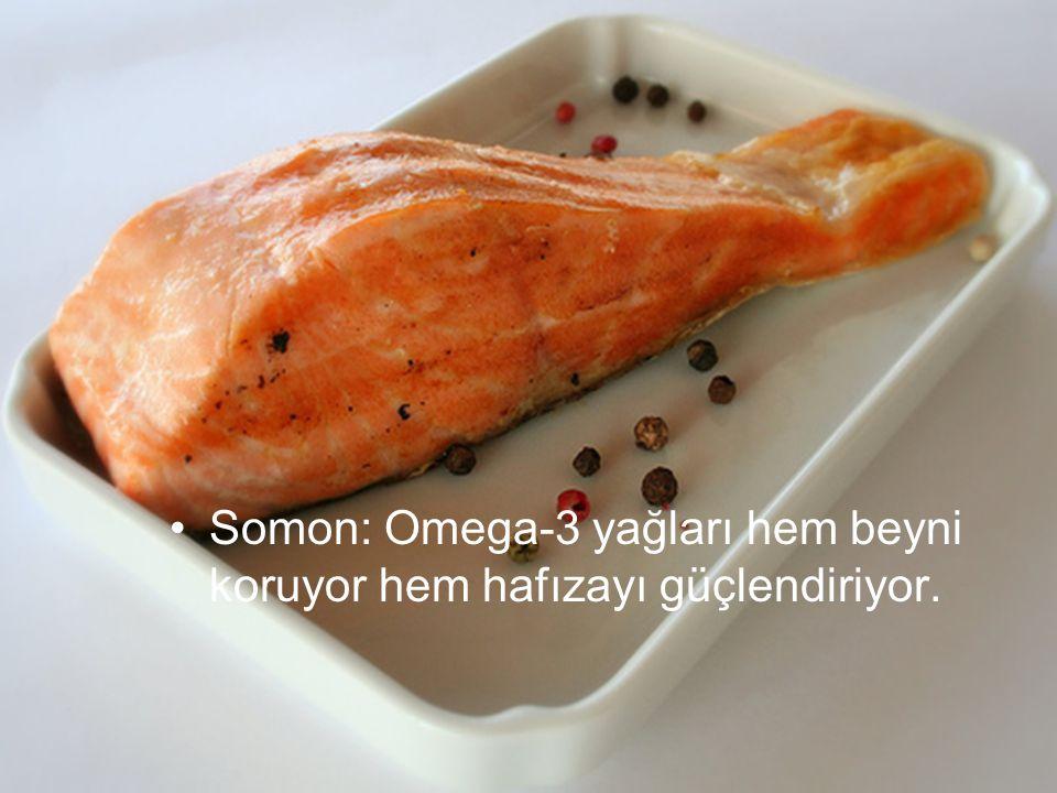 Somon: Omega-3 yağları hem beyni koruyor hem hafızayı güçlendiriyor.