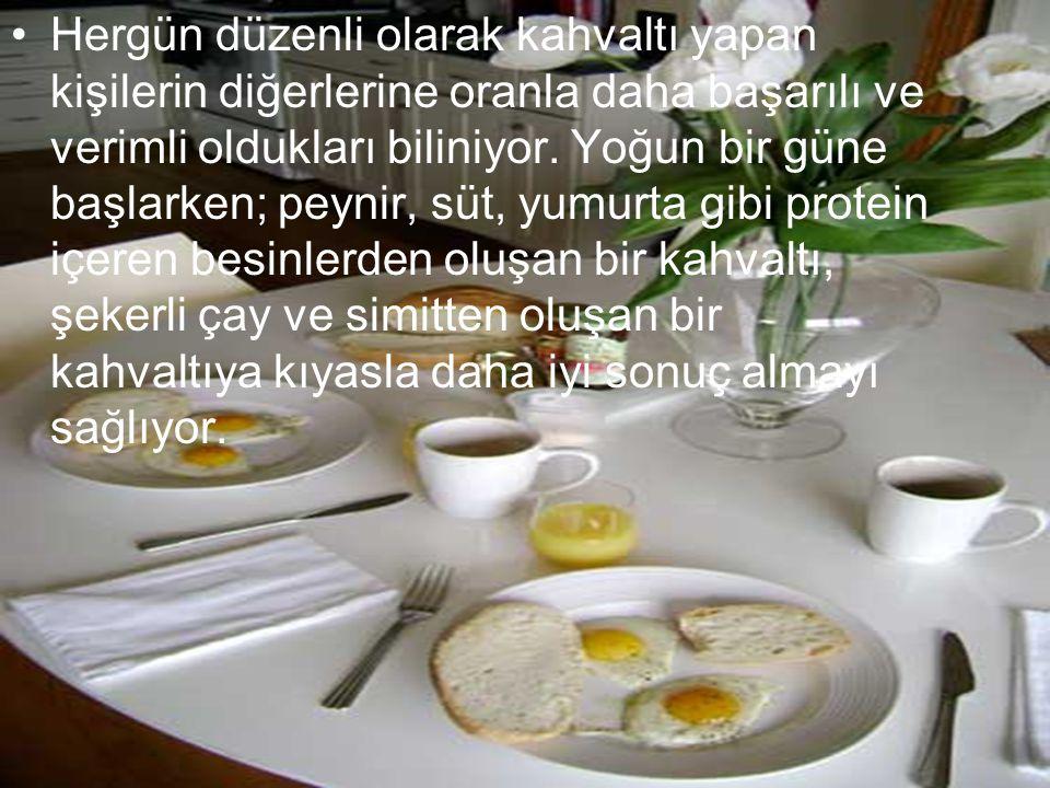 Hergün düzenli olarak kahvaltı yapan kişilerin diğerlerine oranla daha başarılı ve verimli oldukları biliniyor.