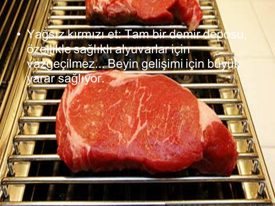 Yağsız kırmızı et: Tam bir demir deposu, özellikle sağlıklı alyuvarlar için vazgeçilmez...
