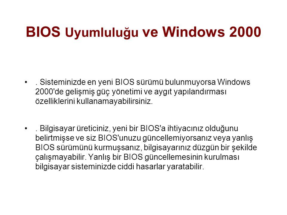 WIN2000 PRO'YA GEÇİLMEDEN ÖNCE YAPILMASI GEREKENLER Sisteminiz temiz bir başlatma işlemine ihtiyaç duyuyor mu.