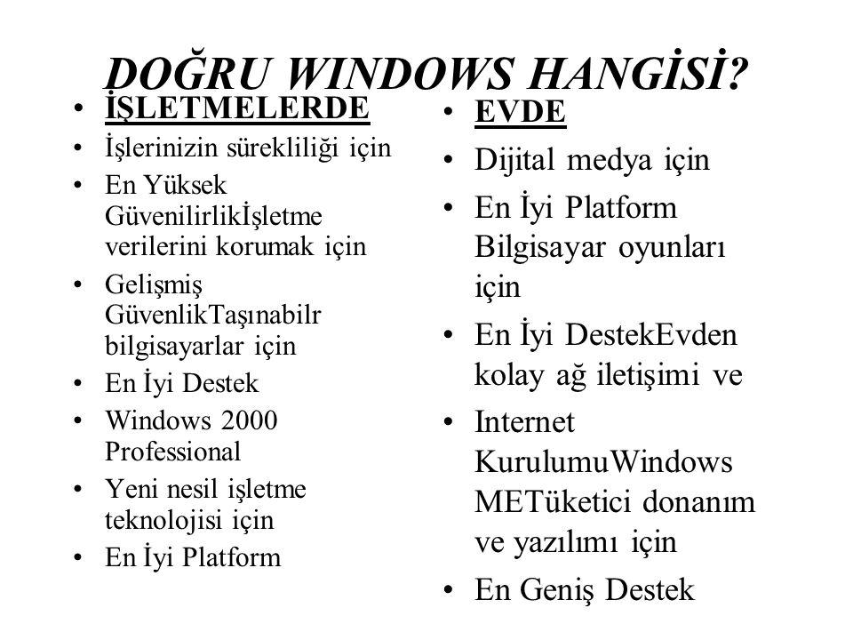 DOĞRU WINDOWS HANGİSİ.