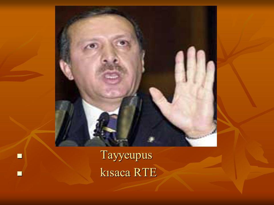 Tayyeupus Tayyeupus kısaca RTE kısaca RTE