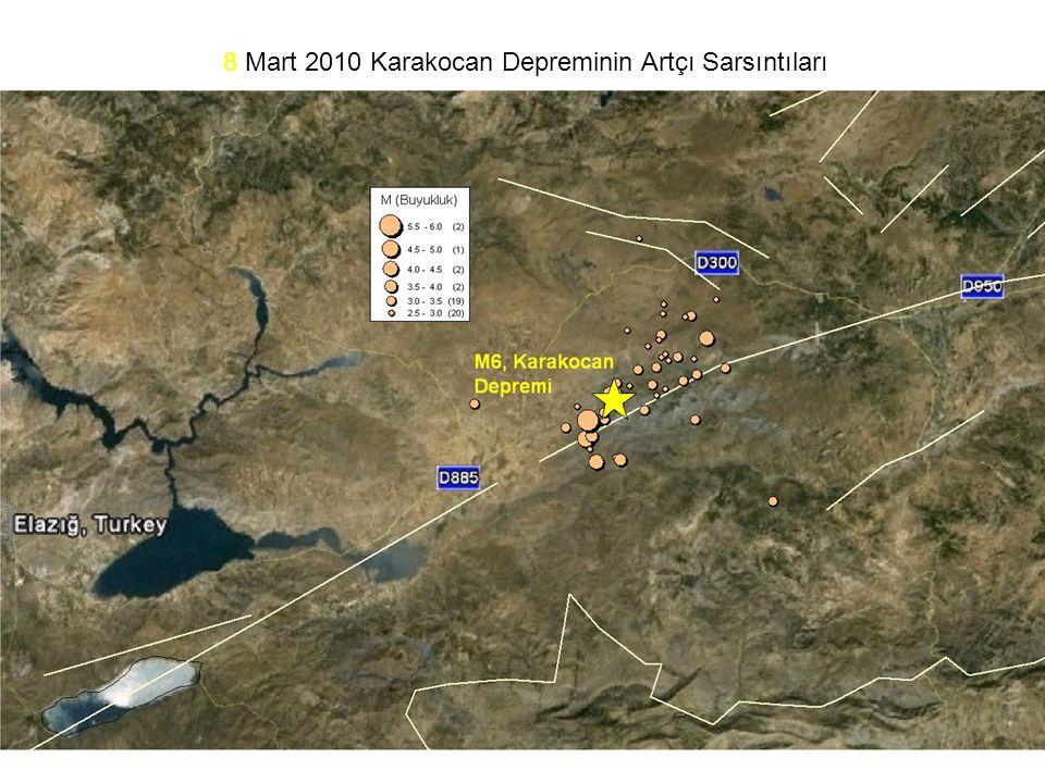 8 Mart 2010 Karakocan Depreminin Artçı Sarsıntıları