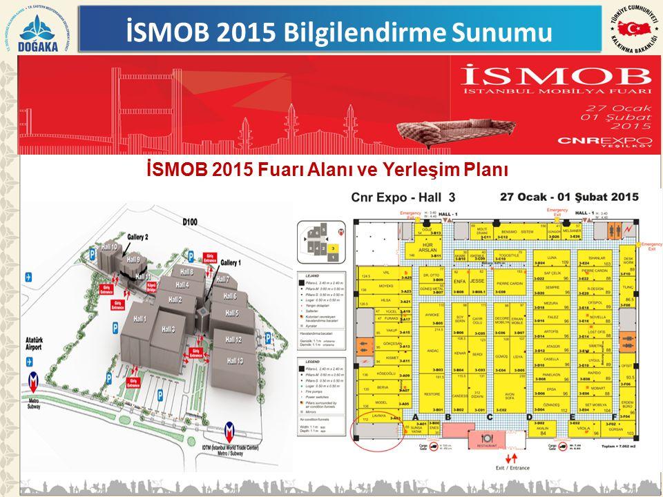 İSMOB 2015 Fuarı Alanı ve Yerleşim Planı İSMOB 2015 Bilgilendirme Sunumu