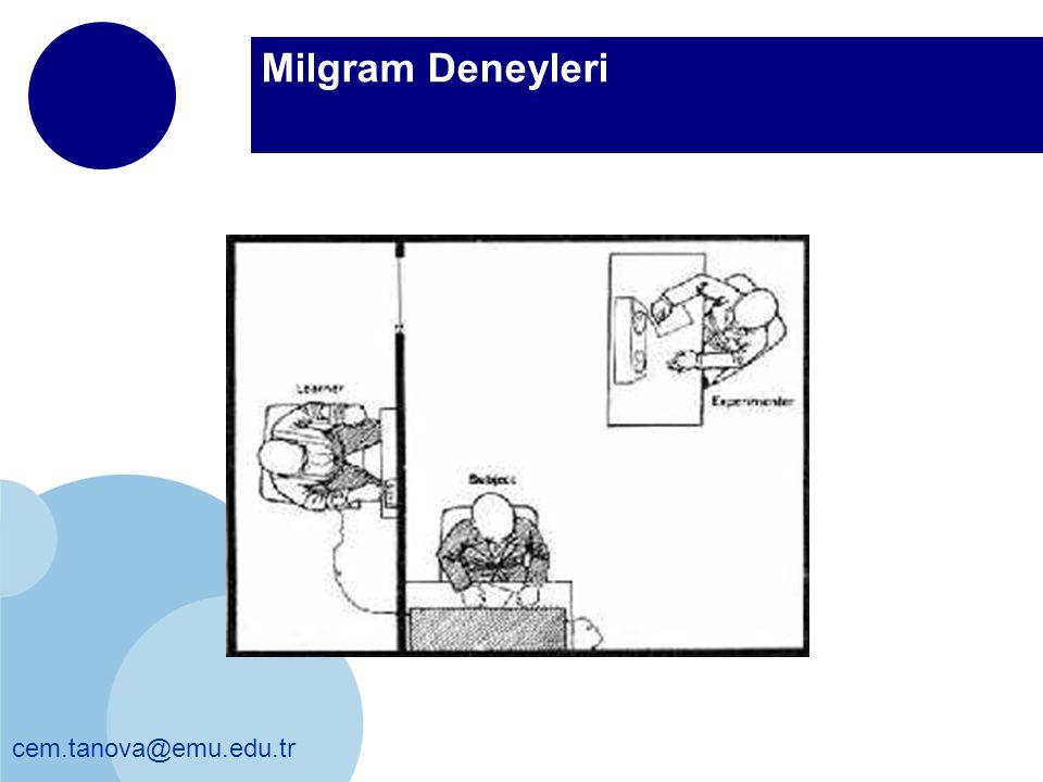 cem.tanova@emu.edu.tr Milgram Deneyleri