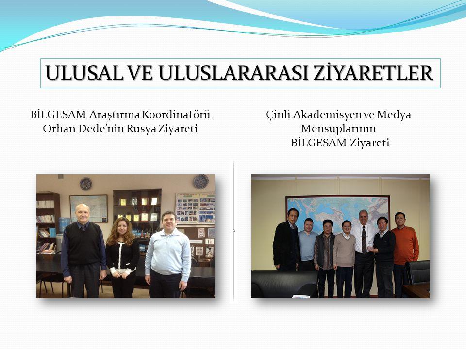 BİLGESAM Araştırma Koordinatörü Orhan Dede'nin Rusya Ziyareti Çinli Akademisyen ve Medya Mensuplarının BİLGESAM Ziyareti ULUSAL VE ULUSLARARASI ZİYARE