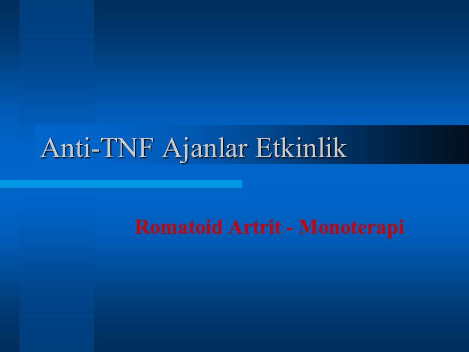Anti-TNF Ajanlar Etkinlik Romatoid Artrit - Monoterapi