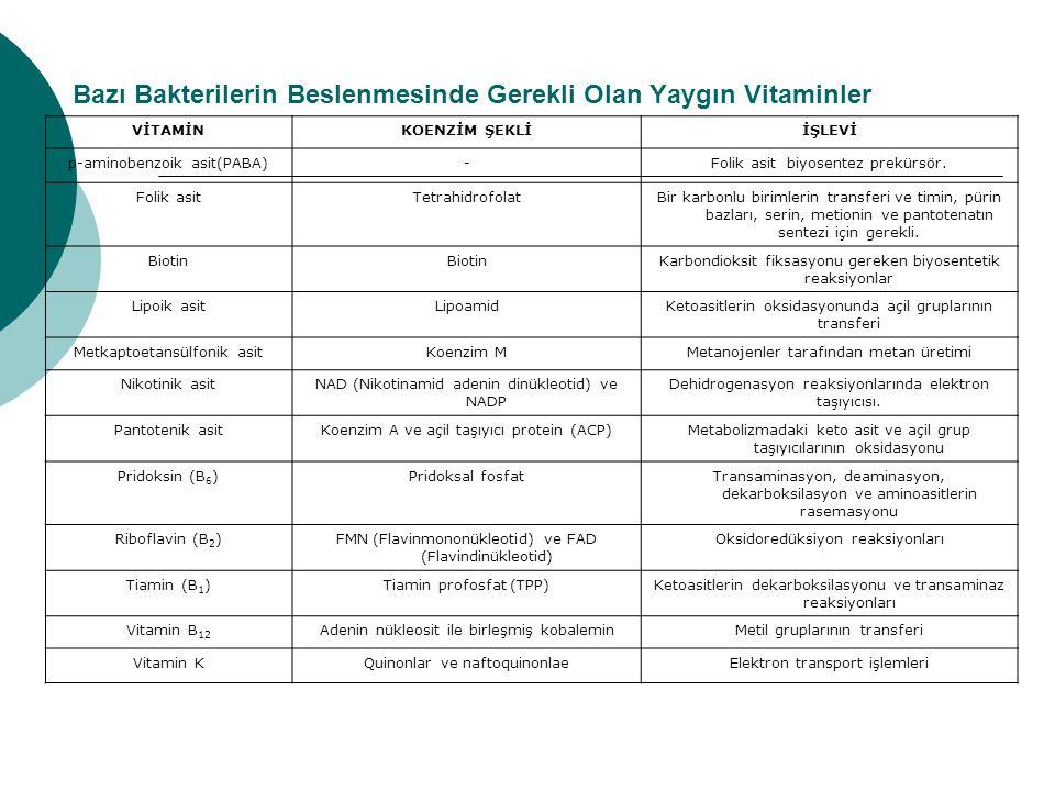 Su Aktivitesi Organizma Büyüme için minimum Aw Caulobacter1.00 Spirillum1.00 Pseudomonas0.91 Salmonella/E.