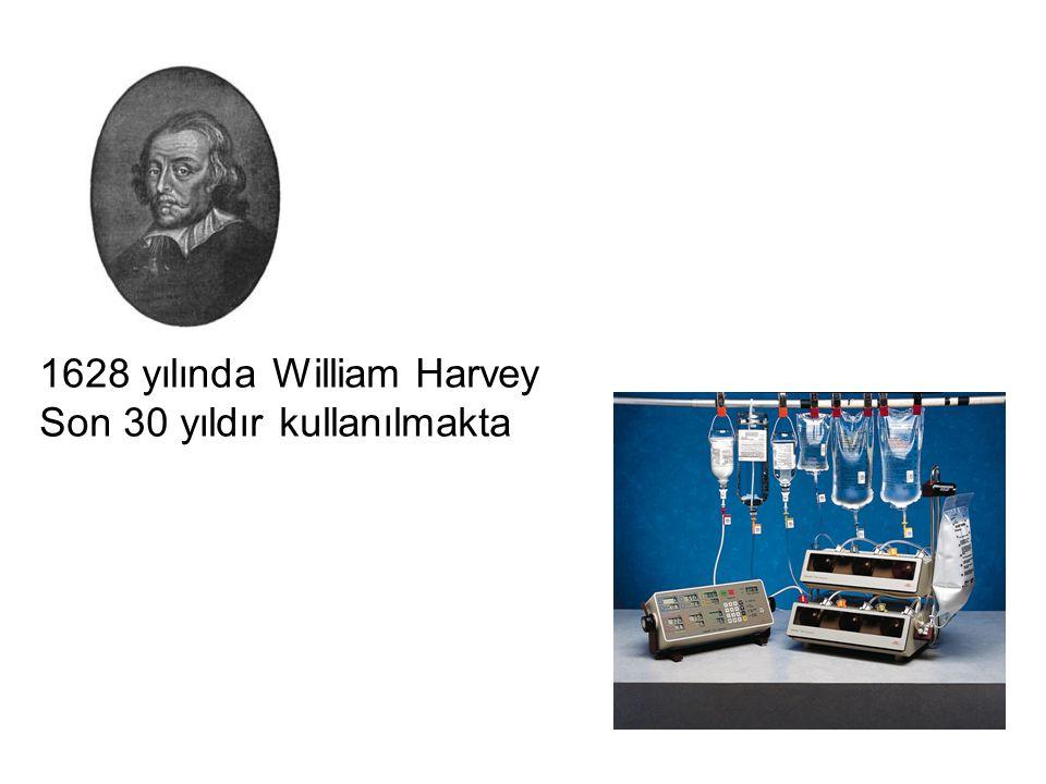 1628 yılında William Harvey Son 30 yıldır kullanılmakta