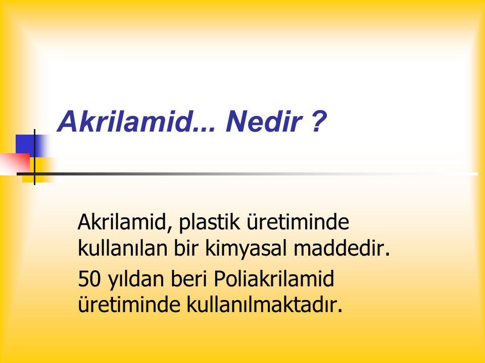 Akrilamid...Nedir . Akrilamid, plastik üretiminde kullanılan bir kimyasal maddedir.