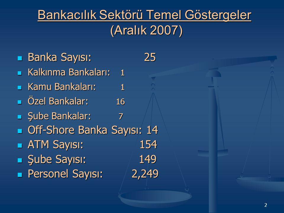 13 Şube Bankalar ve Sektör Toplam Plasmanlar Takipteki Alacaklar Ve Karşılıkları (Aralık 2003-2007)