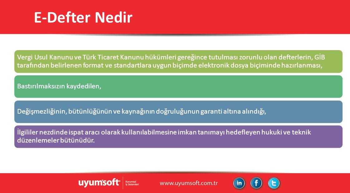 E-Defter Nedir Vergi Usul Kanunu ve Türk Ticaret Kanunu hükümleri gereğince tutulması zorunlu olan defterlerin, GİB tarafından belirlenen format ve st