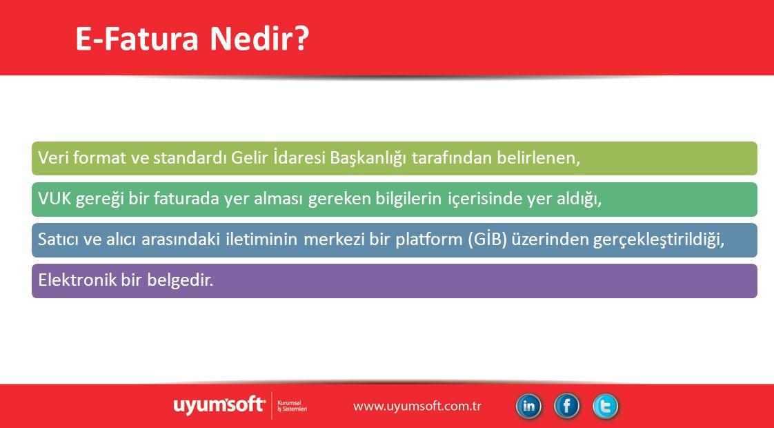 E-Fatura Önemli Linkler http://www.efatura.gov.tr/http://forum.efatura.gov.tr/http://www.uyumsoft.com.tr/https://portal.uyumsoft.com.tr/