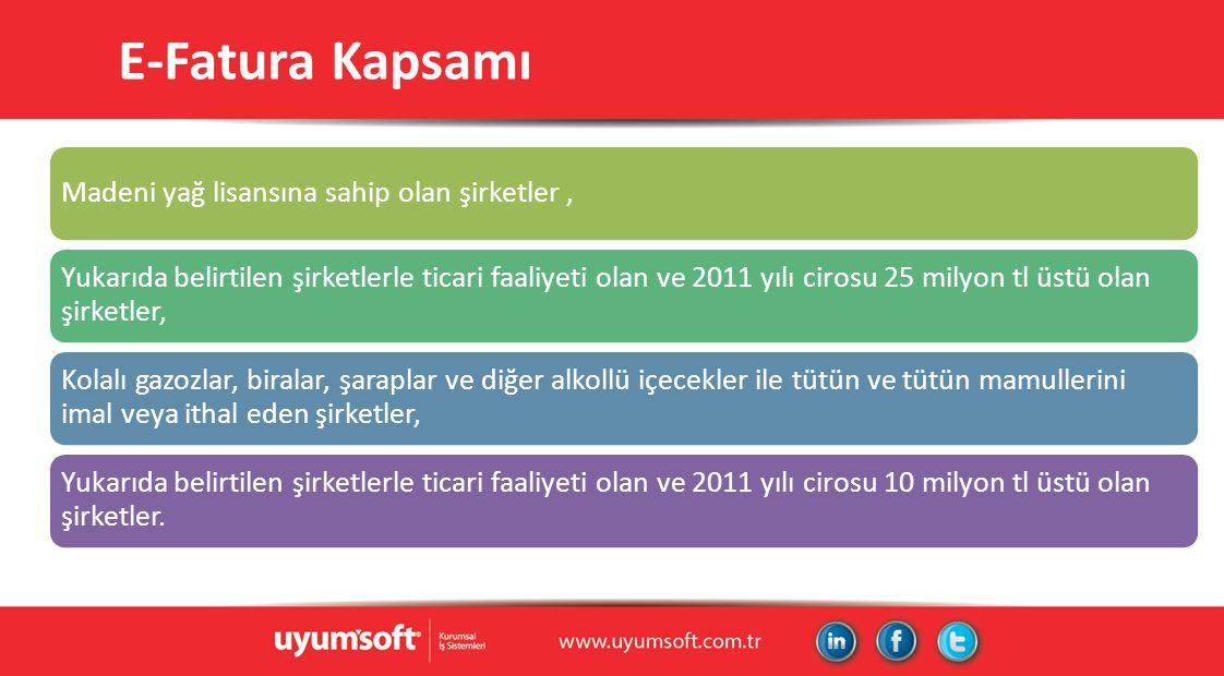 E-Fatura Önemli Tarihler 1 Eylül 2013 Başvuru31 Aralık 2013 Uygulama01 Nisan 2014 Tam Uygulama