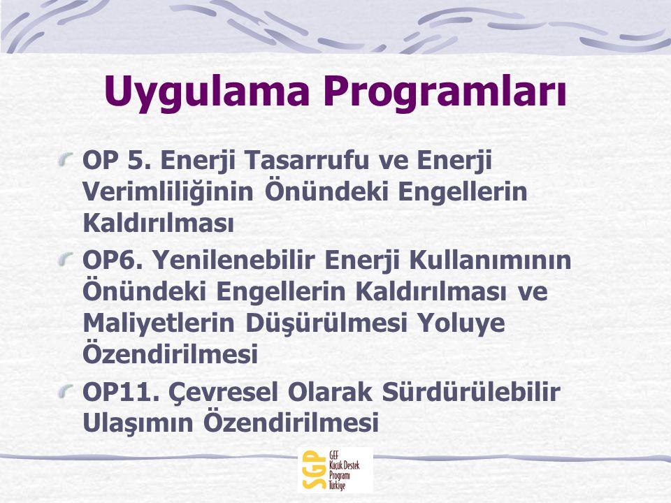 Uygulama Programları OP 5.