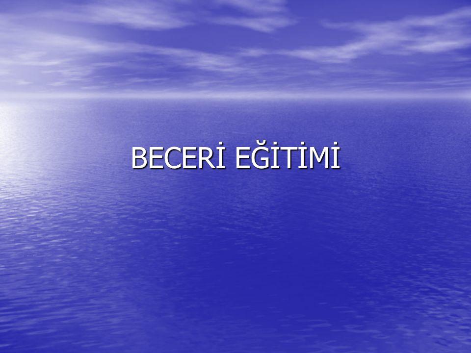 BECERİ EĞİTİMİ