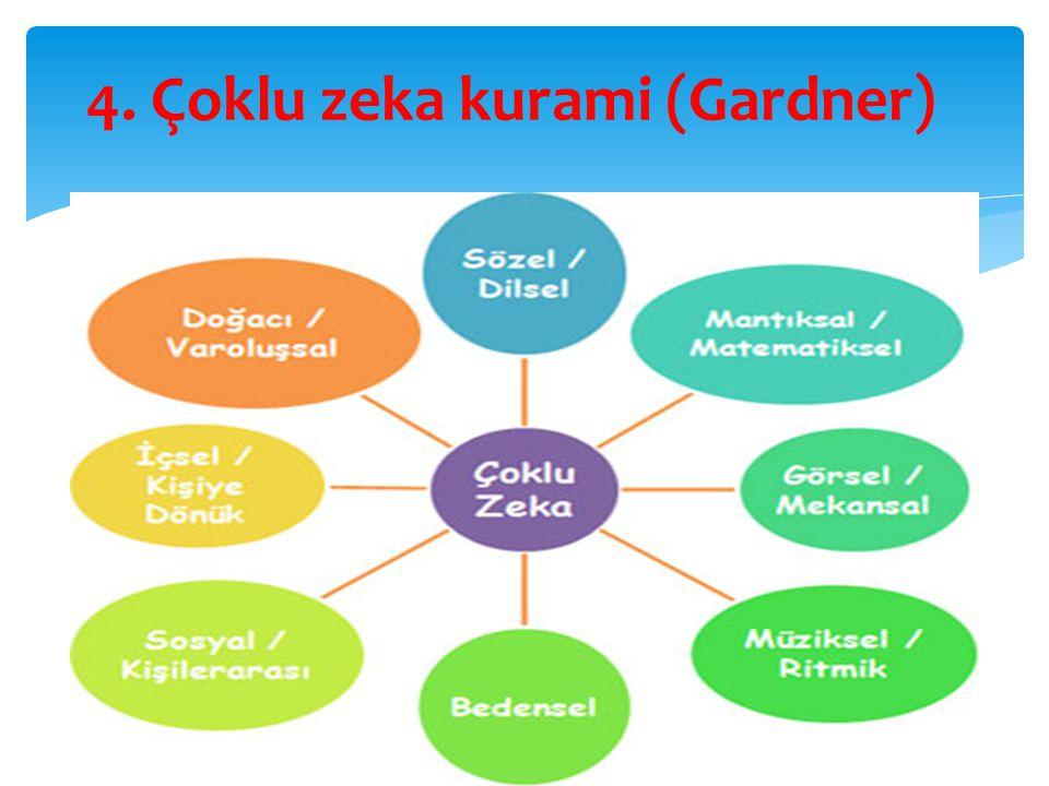 4. Çoklu zeka kurami (Gardner)