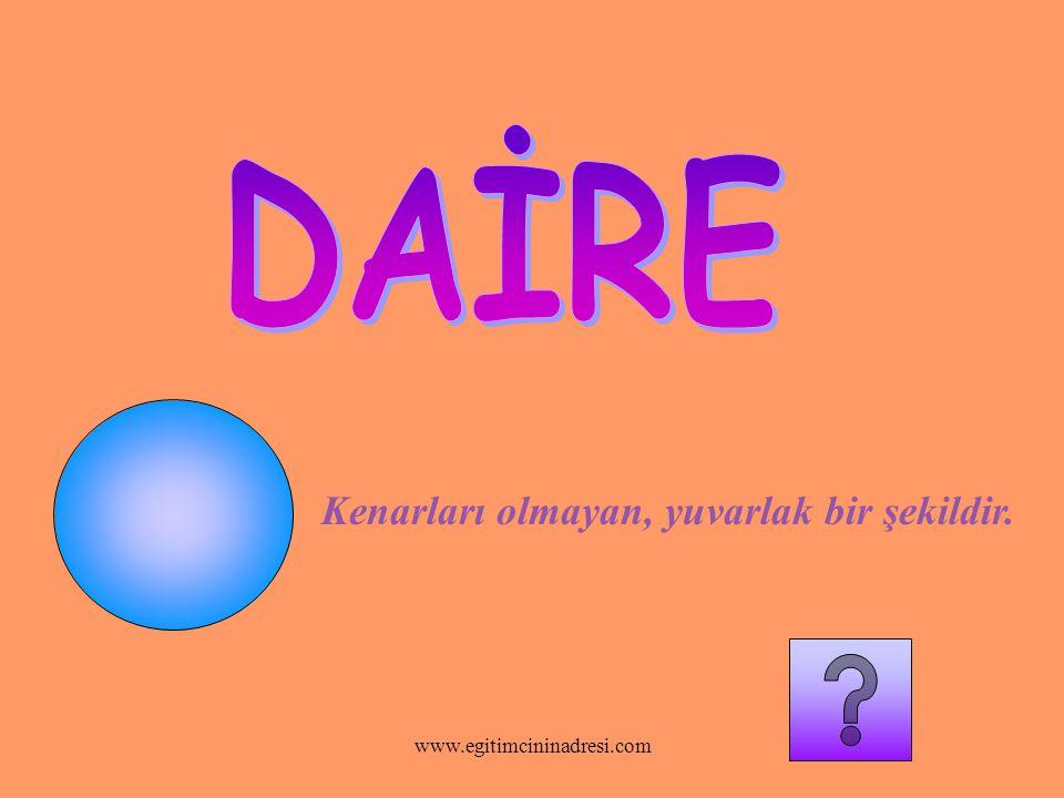 Üç tane köşesi vardır. www.egitimcininadresi.com