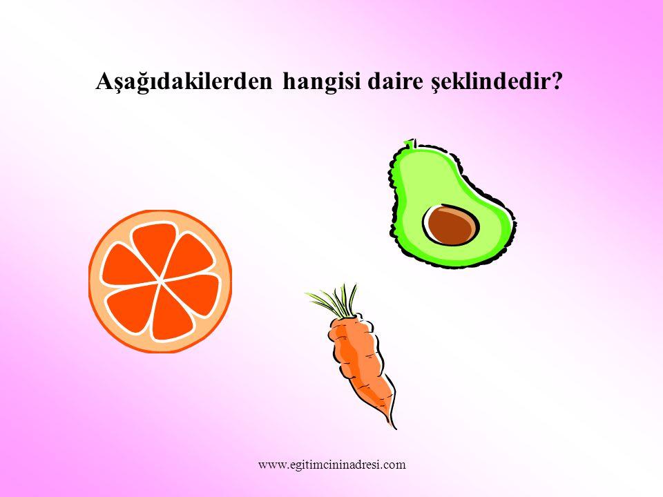 Aşağıdakilerden hangisi dikdörtgendir? www.egitimcininadresi.com