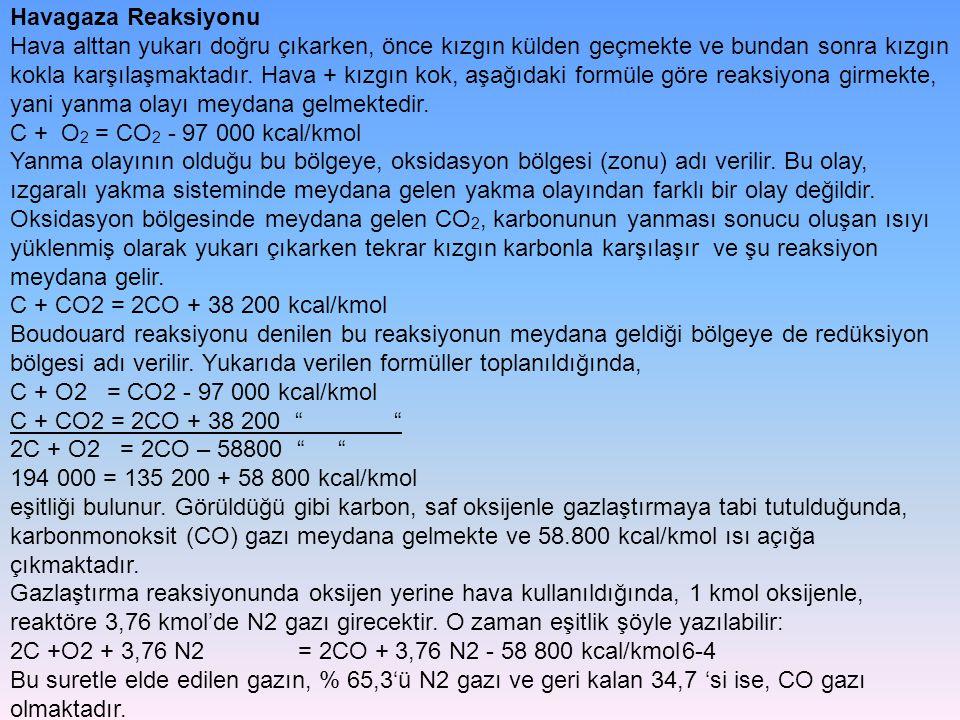 Toz Kömür Püskürtmeli Gazlaştırma Yöntemi Koppers Totzek gazlaştırıcısı, toz kömür püskürtmeli gazlaştırma yöntemi için verilebilecek en iyi örnektir.1950 yıllarında geliştirilen Koppers Totzek gazlaştırma yönteminde toz kömür, oksijen+su buharı ile beraber, 90 derece aralıkla 4 farklı yerden, sıcak reaktör içine püskürtülmektedir.