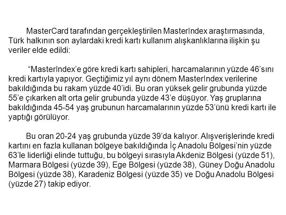 Türkiye de kredi kartı kullanma alışkınlığı VE ORANLARI