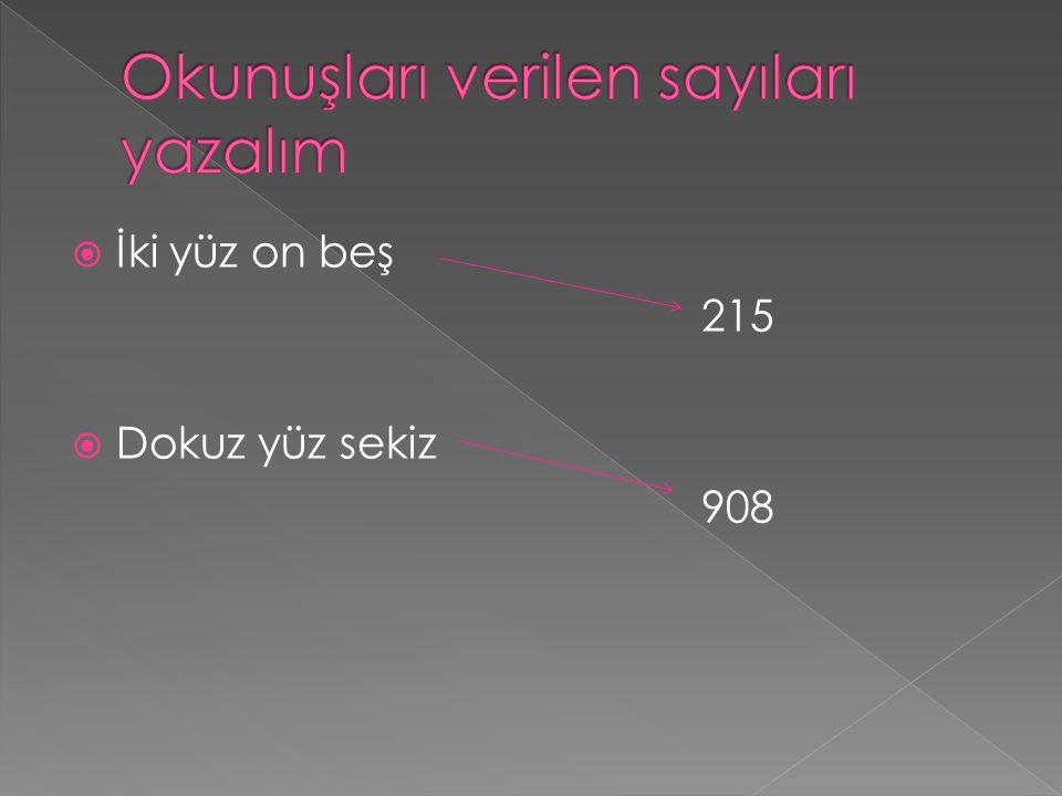 İİki yüz on beş 215 DDokuz yüz sekiz 908